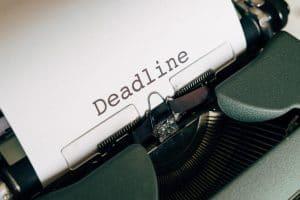 deadline of project