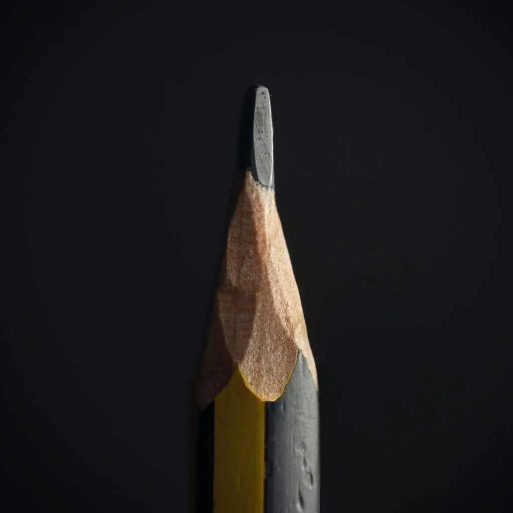 Pencil on a black background